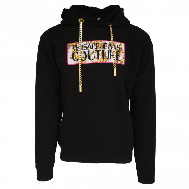 Versace Jeans Couture Black Hooded Sweatshirt