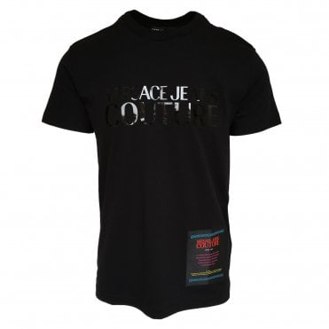 Versace Jeans Couture Black T-Shirt with Black Logo