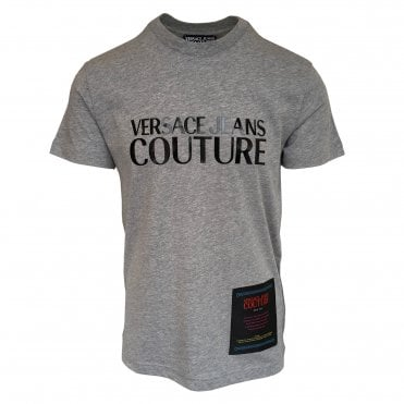 Versace Jeans Couture Grey T-Shirt with Black Logo