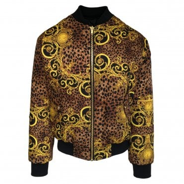 Versace Jeans Couture Reversible 'Leo Baroque' Print Bomber Jacket