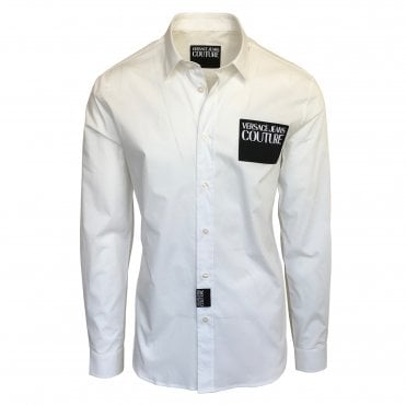Versace Jeans Couture White 'Etichetta' Detail Shirt