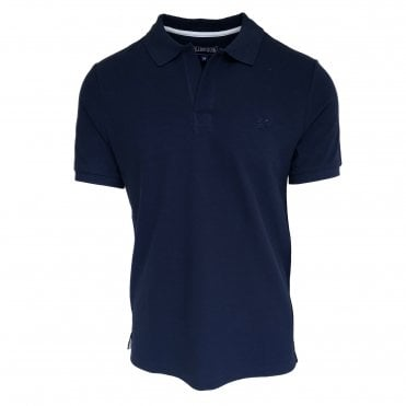 Vilebrequin Navy Cotton Polo Shirt